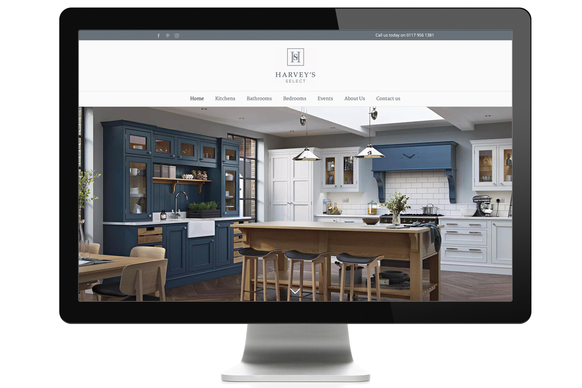 Harvey's Select New Website Design