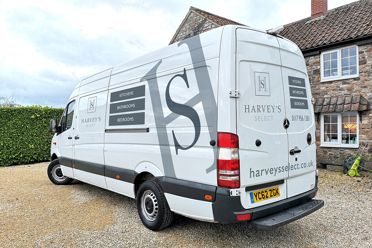 Harvey's Select rebranded van